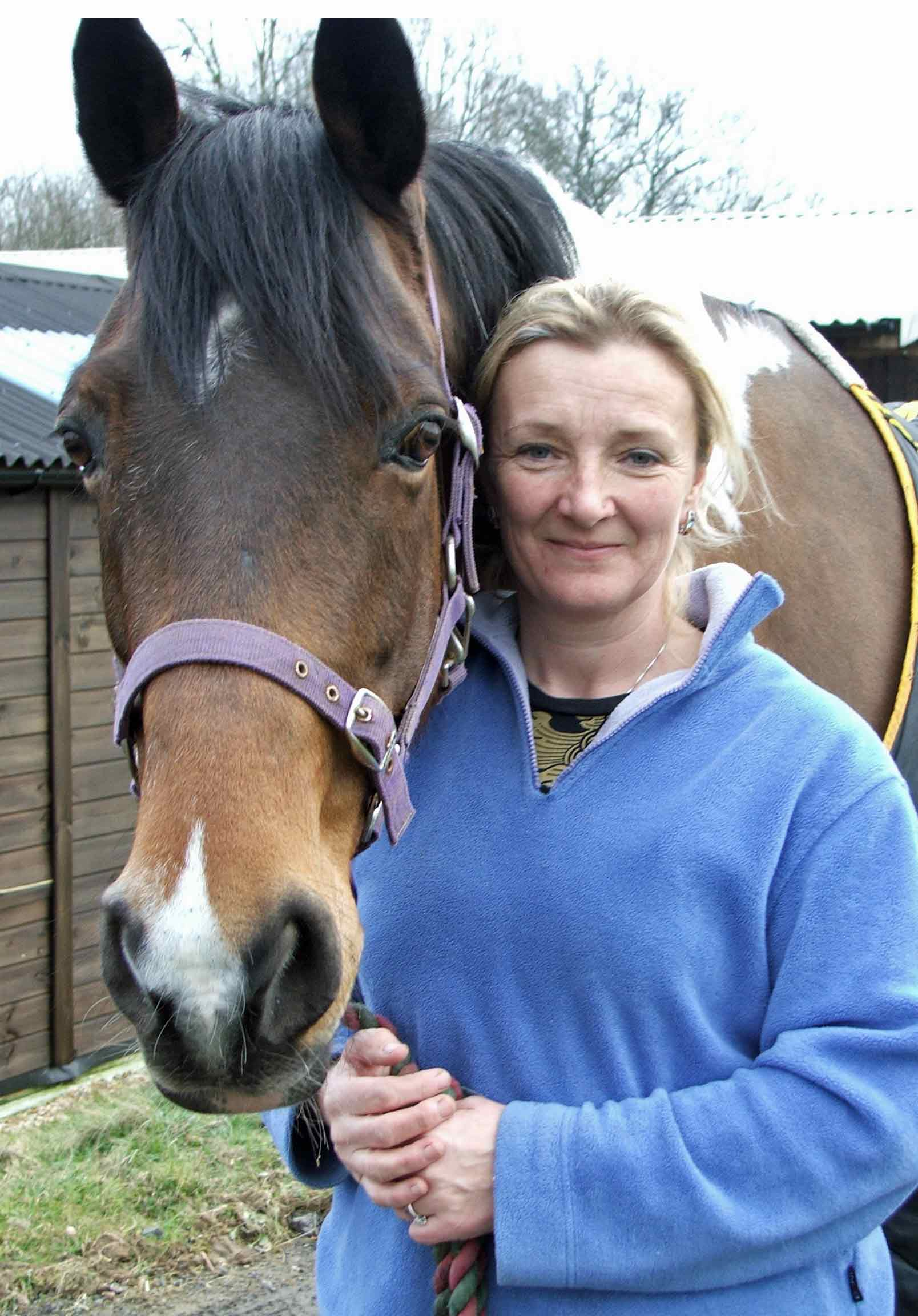 Tina with an equine patient